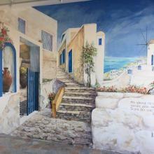 Роспись стен. Греческая таверна